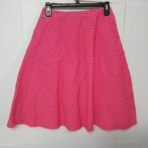 Lacoste Red White Polka Dot Skirt